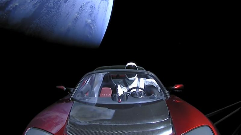 Tesla Roadster set to launch into space