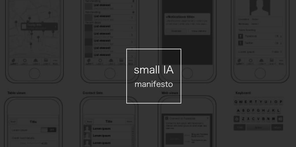 small IA manifesto
